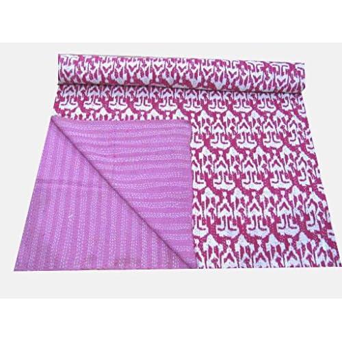 Indian Vintage Kantha Quilt Handmade Cotton Bedspread Bedding Blanket Paisley Au