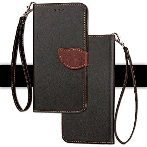 Erdong® funda Para Xiaomi Redmi 4X 5.0, Flip Book-style Superior PU de la carpeta de cuero de diseño [magnético cierre hoja style] Con la función del soporte y ranuras titular de la tarjeta para Xiao Negro
