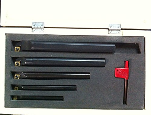 OMEX 5Pc Set of 8 10 12 16 20mm SCLCR Lathe Turning Tool Holder Boring Bar For CCMT