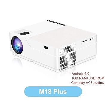 FANGLING-projectors HD Proyector M18 Resolución 1080p 5500 Lumen ...