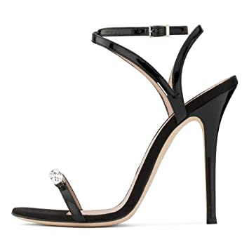 76863075f5ffe Amazon.com: FCXBQ Rhinestone Sandals, Stiletto High Heel Sandals ...