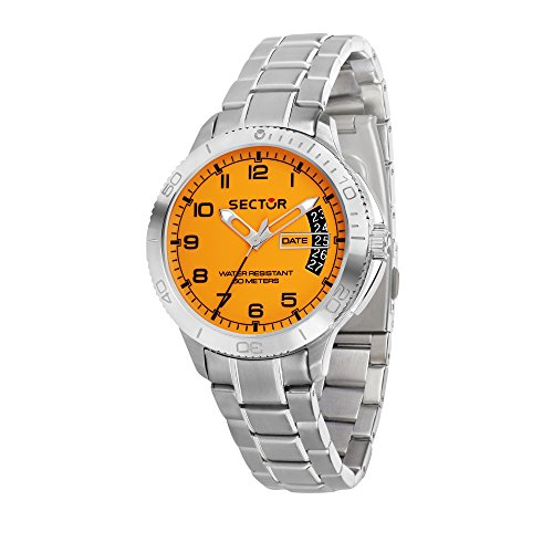 SECTOR Men's '270' Quartz Stainless Steel Sport Watch, Color Silver-Toned (Model: R3253578008)