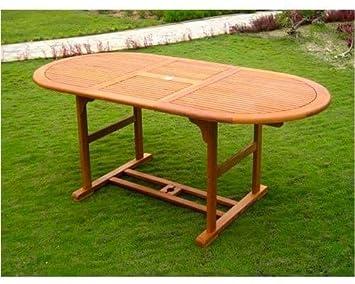 En De Extensible Bois AmicasaTable 180260 Cm 100 Ovale X Jardin tsQChdr