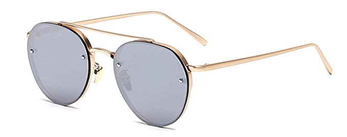 cf5b0c33a5 Image Unavailable. Image not available for. Color  Aviator Mirrored Lens  Gold Metal Designer Fashion Sunglasses Men s ...