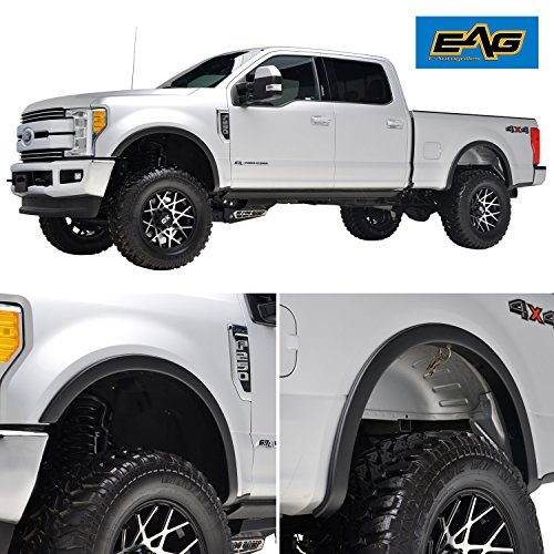 EAG Textured Satin Black OEM Style Fender Flares 4pcs for 17-18 Ford (Oem Flares)