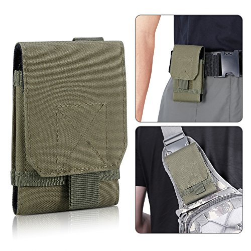 Tactical Pouch,Bienna Small Military Bag Molle Gear [Waterproof] 1000D Nylon EDC Utility Gadget Phone Velcro Waist Bag Pack Holster Pocket Cover Case for Vest & iPhone 7 6 6s 5 5s Galaxy S6 S5-AG