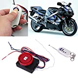 HDE Motorcycle Anti-Theft Vibration Sensor Security Alarm with Remote Protection