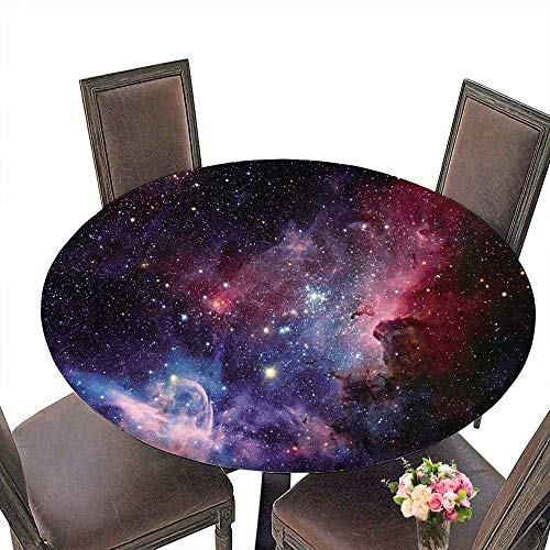 PINAFORE Luxury Round Table Cloth for Home use Image de la nébuleuse de Carina en lumière infrarouge for Buffet Table, Holiday Dinner 55