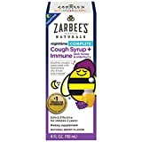 Zarbee's Children's Cough Syrup + Immune Support with Elderberry, Nighttime - Natural Berry Flavor - 4 oz, Pack of 3