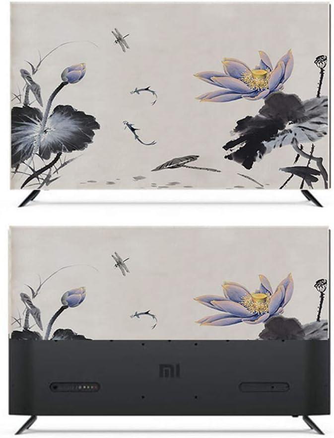 Color : BH14-19, Size : 32inch-77 * 48cm XIAOZHEN Dust Cover Impression en Tissu Housse TV Couverture TV LCD Housse De Protection