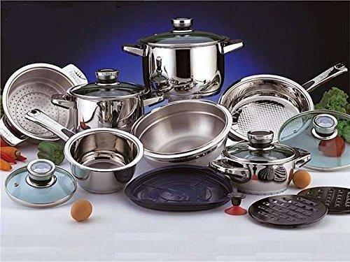 z p t r swiss 16 piece stainless steel cookware set z p 171 buy online in uae kitchen. Black Bedroom Furniture Sets. Home Design Ideas
