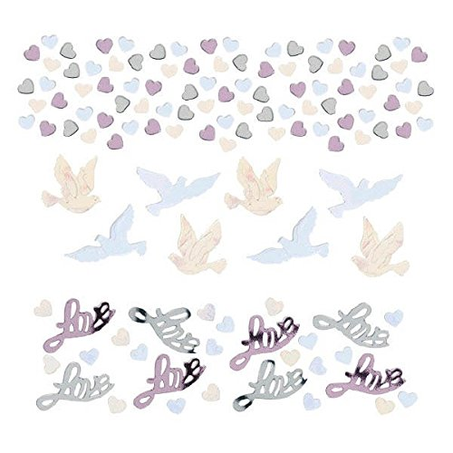 amscan Doves Value Confetti | Wedding and Engagement Party