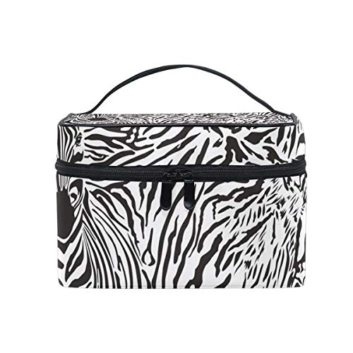 Makeup Bags Organizer Personality Tiger Zebra Animal Texture Pattern Large Travel Cosmetic Beauty Storage Toiletry Pouch for Women