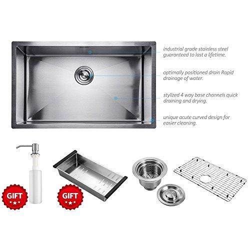 undermount stainless steel sink - 6