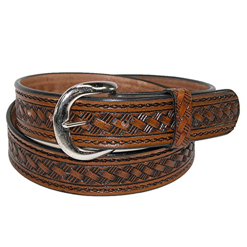 CTM Men's Leather 1 3/8 Inch Western Belt with Removable Buckle, 40, ()