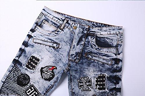 Leonesso Jeans Pants Urban Street Cool Style Fancy Design Men Denim