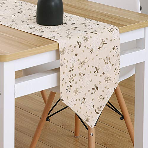 (JUNYZZQ Table Runner Floral Table Flag Without Pendant Garden Modern Minimalist Fresh Style Bed Flag Table Flag Coffee Table Flag Nordic,30X180Cm)
