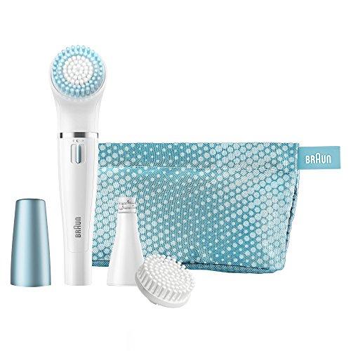 Braun Face 832e Gesichtsepilierer und Gesichtsreinigungsbürste (elektrischer Epilierer fürs Gesicht mit Reinigungsbürste) blau