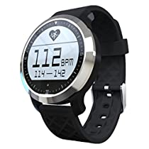YIDA SW28 Sport Swimming Waterproof Bluetooth Smartwatch F69 Pulsometer Smart Watches For Apple iPhone Android Heart Rate Monitor Watch (BLACK)