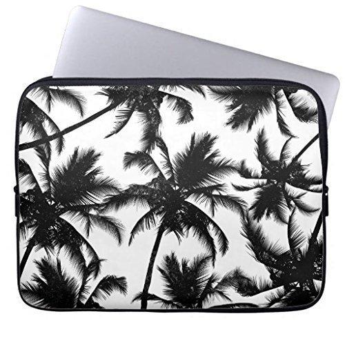 Eratio Modern Black and White Tropical Palm Trees Neoprene Laptop Sleeve 13 Inch MacBook Air Case MacBook Pro Sleeve and 13 Inch Laptop Bag