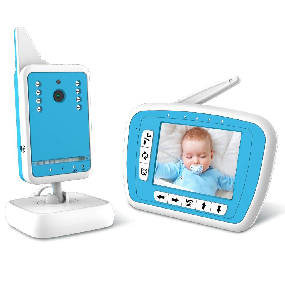 BIBENE Video Baby Monitor with Digital Camera and Audio, 980ft Long Range 3.3 LCD Display, Support Multi-Camera, Auto Wake-up, Temperature Sensor, Infrared Night Vision, Lullabies