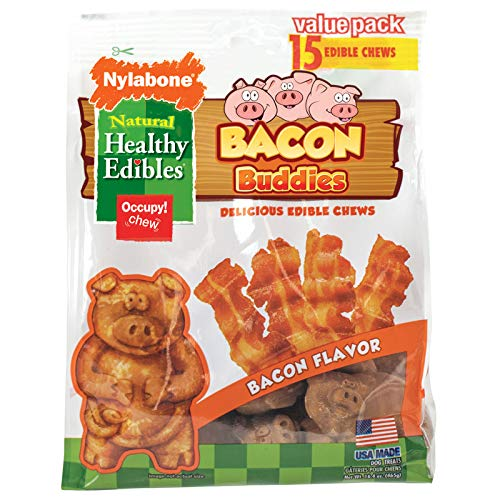 - Nylabone Healthy Edibles Bacon Buddies Dog Chew 15ct