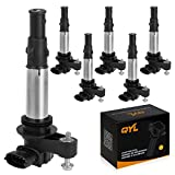 QYL Pack of 6 Ignition Coils for Buick Cadillac Chevy GMC Saab Saturn V6 2.8L 3.6L Compatible with C1508 UF-375 UF375
