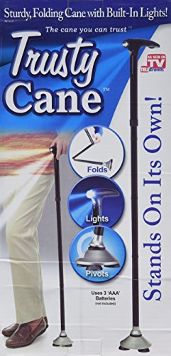 Trusty Cane with Built-In Lights (Black) - 1
