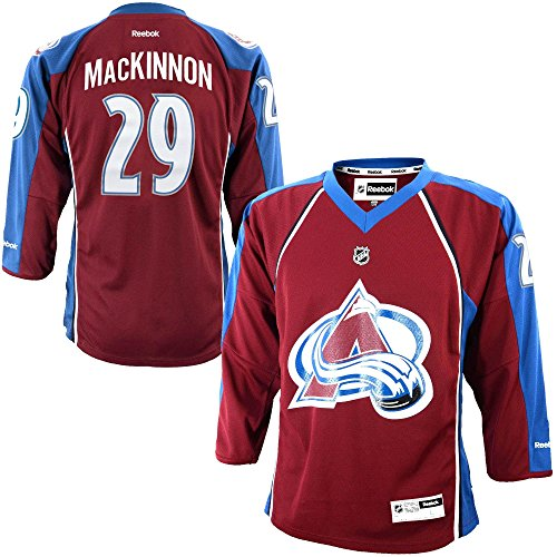 Nathan MacKinnon Colorado Avalanche Burgundy NHL Youth Reebok Home Replica Jersey – Sports Center Store