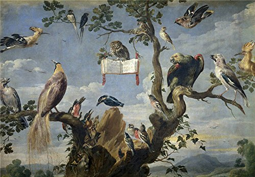(The Perfect Effect Canvas Of Oil Painting 'Snyders Frans Concierto De Aves 1629 30 ' ,size: 16 X 23 Inch / 41 X 58 Cm ,this Reproductions Art Decorative Prints On Canvas Is Fit For Laundry Room Decoration And Home Artwork And Gifts)