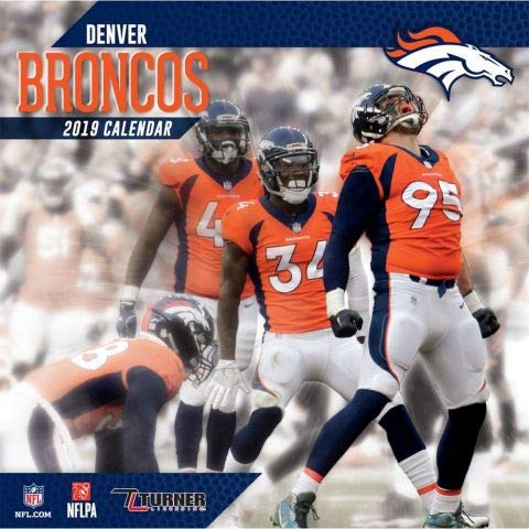 (2019 Denver Broncos NFL Team Wall Calendar)