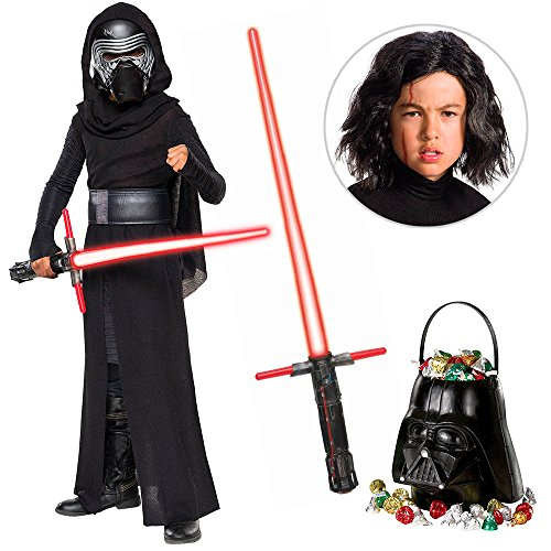 Star Wars Episode VIII: The Last Jedi - Kylo Ren DLX Child Costume with Wig and Lightsaber - Small ()
