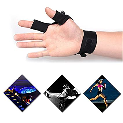 Mural Art Anti-Slip Half Finger Gloves LED Flashlight Luminous Multipurpose Glove for Repairing and Working in Darkness Places Running Outdoor Sports Hiking Fishing Camping