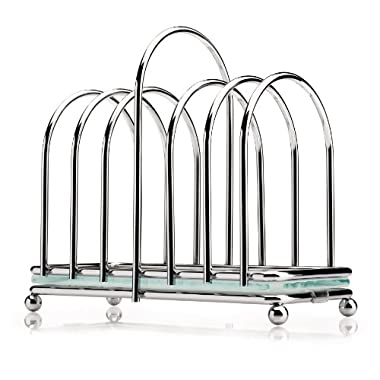Victorian Toast Rack with Frosted Glass Base