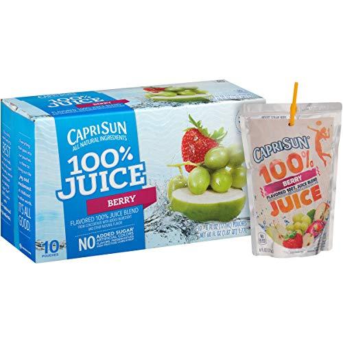 Capri Sun Berry 100% Juice Drink (4.05 oz Pouches, 4 Boxes of 10)