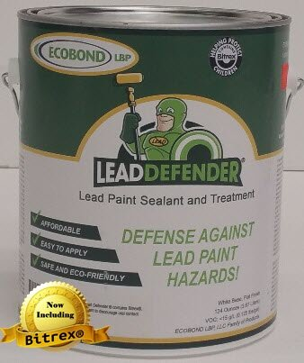 Lead Based Paint - ECOBOND Lead Defender 1-Gal Lead Based Paint Treatment and Sealant-All Orders Receive Our Lead Paint Treatment Industry Awareness Webclass and Multi-media Mixing and Application Tutorial
