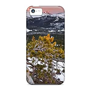 Special CaroleSignorile Skin Cases Covers For Iphone 5c, Popular Mountains Winter Down Phone Cases