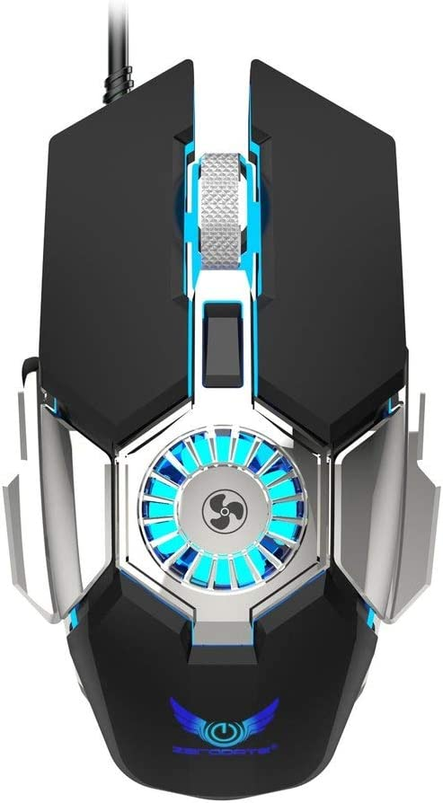 Wired Gaming Mouse with Cooling Fan, Wired Optical Game Mice