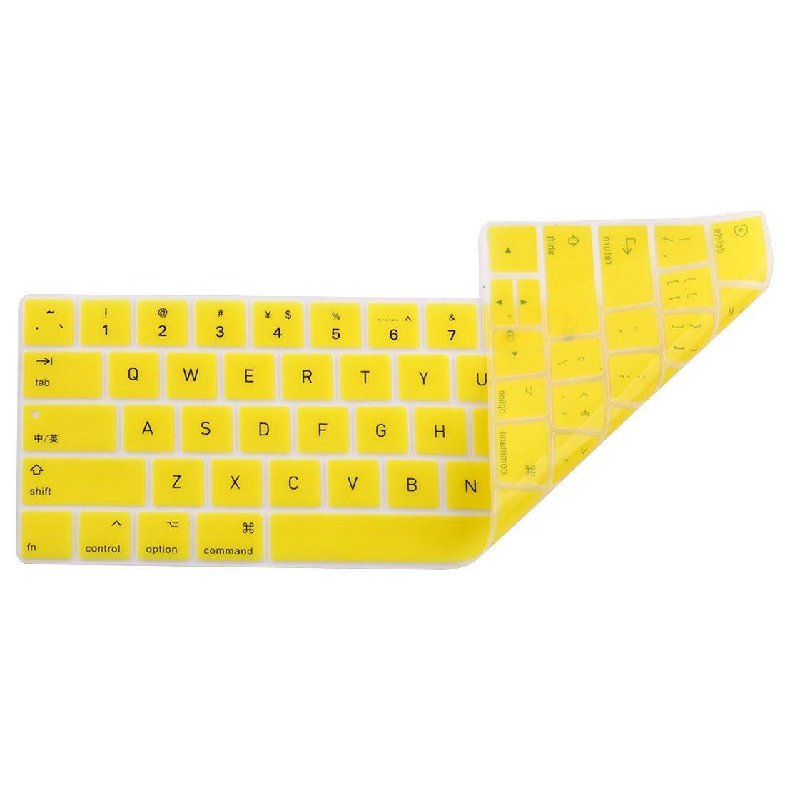 Amazon.com: eDealMax portátil de silicona teclado sin hilos de la cubierta del Protector de la piel Amarillo Para MacBook Pro 13: Electronics