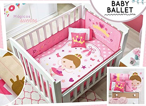 Baby Girl Ballet 6 Piece Crib Bedding Set