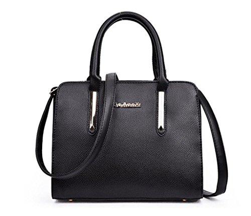 en Travail Sac Main Sac Bag black 5 Litchi bandoulière Messenger Cuir Shopping à PU à Sac Loisirs Tourisme Unique Couleurs féminin SHOUTIBAO Grain qxUp7p