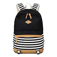 Abshoo Lightweight Canvas Stripe Backpacks for Girls Womens School Bookbags