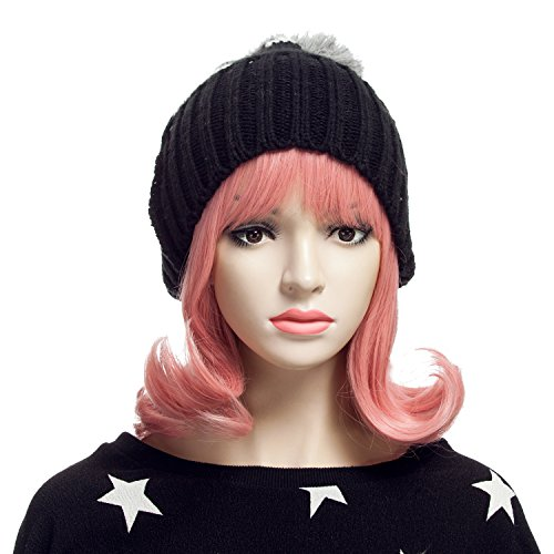 YOPO-Wig-Short-Wavy-Wigs-for-Women-with-Free-Wig-Cap-Bobby-Pins-16-Cosplay-Medium-Length-Wig