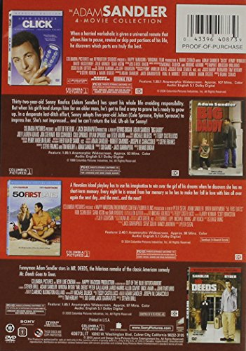 The Adam Sandler 4-Movie Collection - Click/Big Daddy/50 First Dates/Mr. Deeds