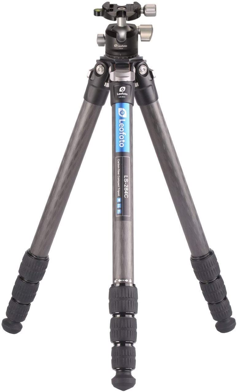 Leofoto LS-284C-LH-30 Tripod Kit LH-30 Carbon Fiber CF 4 Section & 30mm Low Profile Ball Head