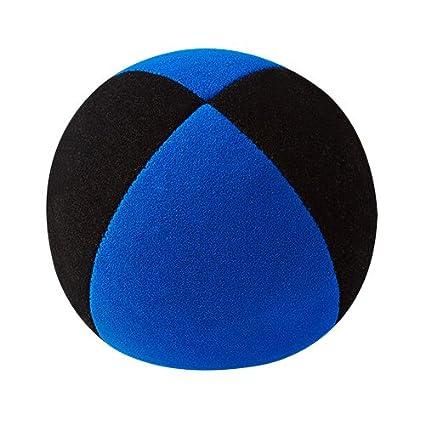 Jonglierbälle - Pelota de Malabares (62 mm), Color Negro y Azul ...