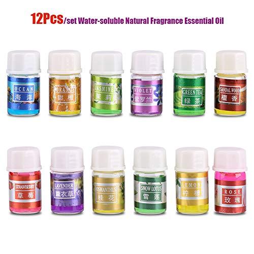 Garosa Aceite Esencial de Fragancia Natural Kit de Relajación Soluble En Agua 100% Puro Plantas Orgánicas Aromaterapia...