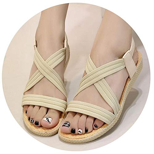 Women Sandals Bohemia Comfortable Ladies Shoes Beach Gladiator Sandal Women Casual Shoes Simple Female Shoes ()