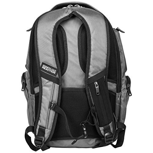 """68891b780 Kenneth Cole Reaction Pack of All Trades 1680d Polyester Double Gusset  17.0"""" Laptop Backpack,"""