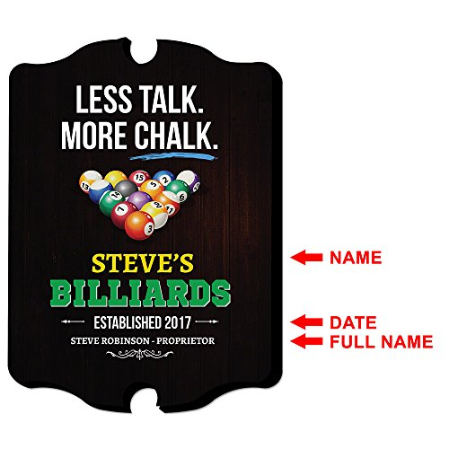 The 8 best billiards signs personalized
